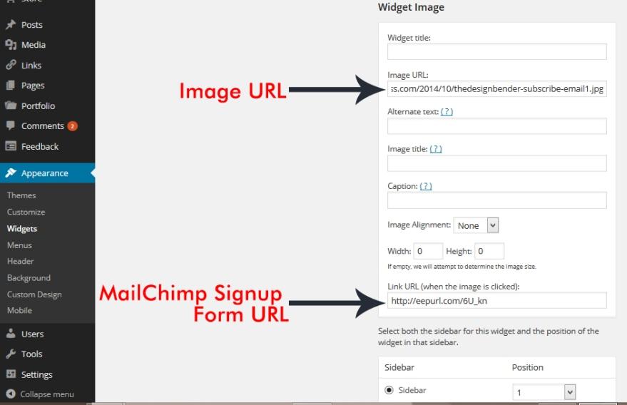 MailChimp Signupform-Widget