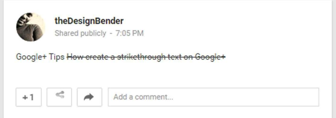 How-to-create-a-strikethrough-text-on-Google-plus--thedesignbender-2