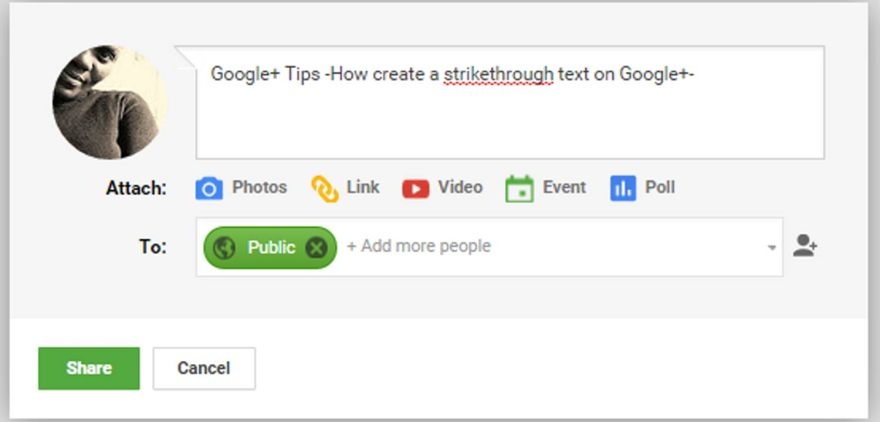 How-to-create-a-strikethrough-text-on-Google-plus--thedesignbender