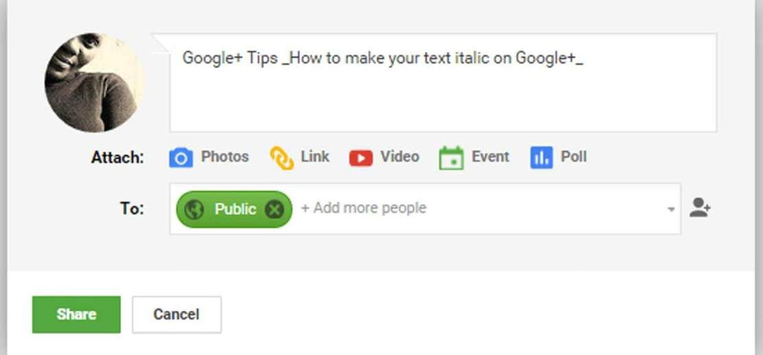 How-to-create-an-italic-text-on-Google-plus--thedesignbender