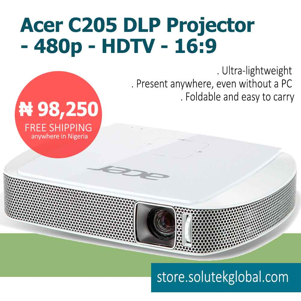 Lightweight_Acer-C205-DLP-Projector_Solutek-Global
