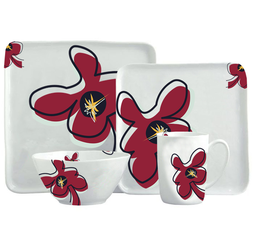 Bloom-Dinnerware-Set-ZuriandImani-Creative-Plate-Design