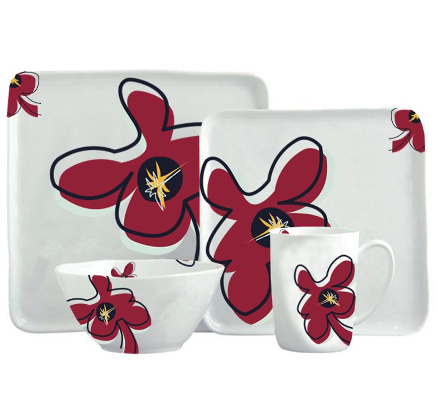 Bloom-Dinnerware-Set-ZuriandImani-Creative-Plate-Design